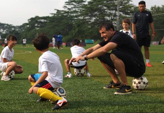 Duric inspires at Guardian Academy football clinic