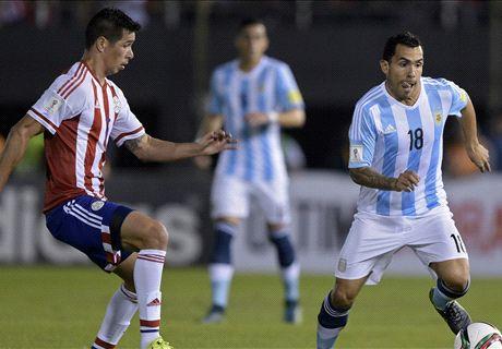 El partido de Tevez ante Paraguay