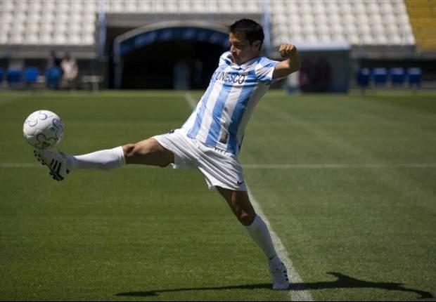 Javier Saviola, feliz por llegar al Málaga