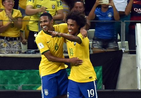 Willian at the double in Brazil win