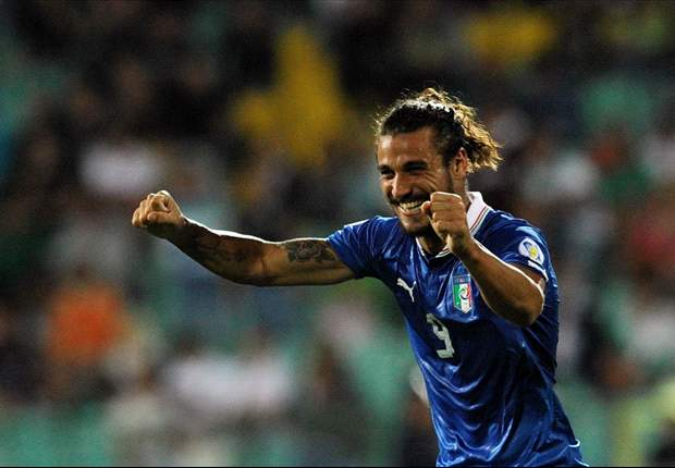 Pablo Daniel Osvaldo es feliz tras sus dos goles, pero no del todo