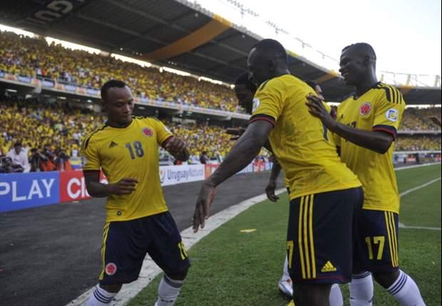 Colômbia goleia Uruguai e segue na briga por vaga na Copa do Mundo