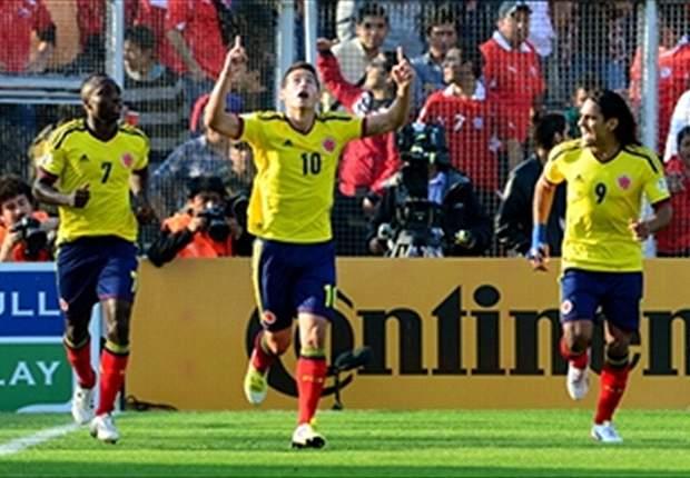 Colombia le ganó a Chile en Santiago 3 a 1