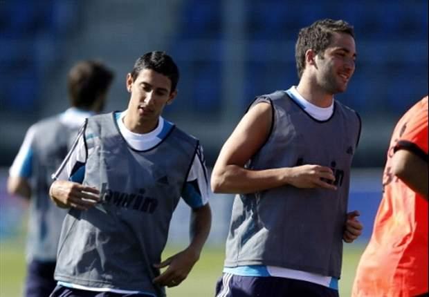 Gonzalo Higuaín y Ángel Di María se reincorporan a los entrenamientos del Real Madrid