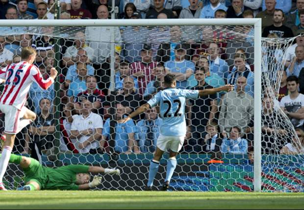 Stoke City 1-1 Manchester City: Javi Garcia nets debut goal but Crouch frustrates Premier League champions again