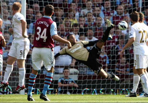 Aston Villa 2-0 Swansea City: Lowton & Benteke on target for much-improved hosts