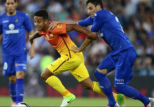 Thiago Alcántara y Adriano Correia entrenan con el filial del Barcelona