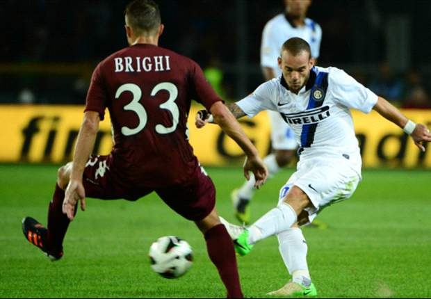 I do not have any problems with Stramaccioni, says Inter midfielder Sneijder