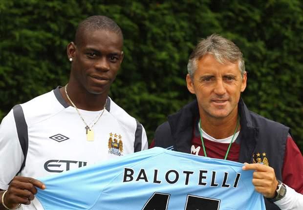Mancini: Balotelli puede llegar al nivel de Messi y Cristiano