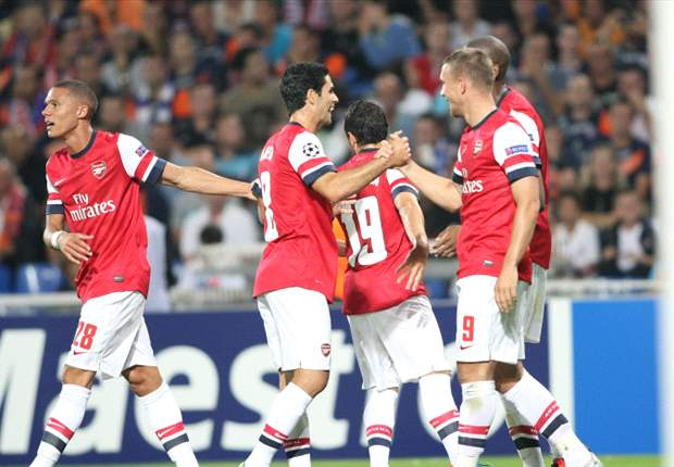 Montpellier 1-2 Arsenal: Podolski and Gervinho get Gunners off to flying start in France
