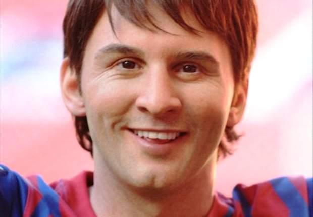 Lionel Messi enthüllt Wachsfigurenstatue in Wembley