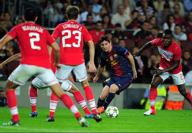 Barcelona mit Mühe gegen Spartak Moskau: Messi entscheidet die Partie