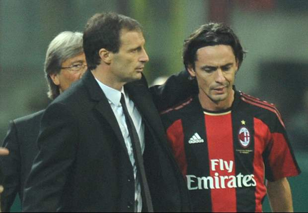 Filippo Inzaghi and Massimiliano Allegri clash in heated AC Milan training ground argument