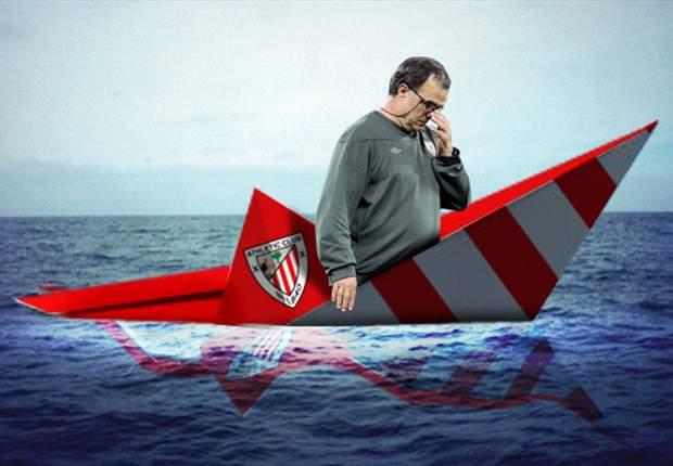 Marcelo Bielsa ve cómo se hunde el barco del Athletic