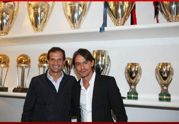 AC Milan duo Inzaghi and Allegri deny bust-up rumours