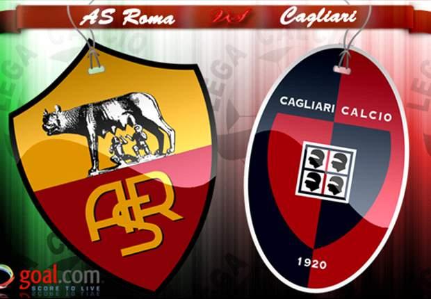Roma gana los tres puntos del partido ante el Cagliari