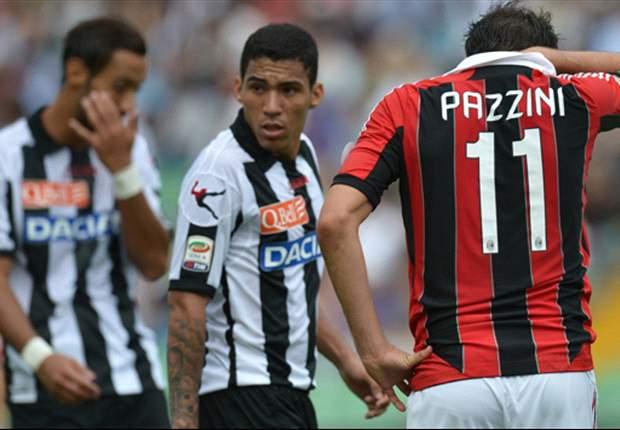 Udinese profundiza la crisis rossonera