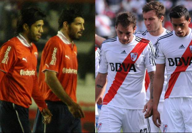 Independiente y River en zona de descenso