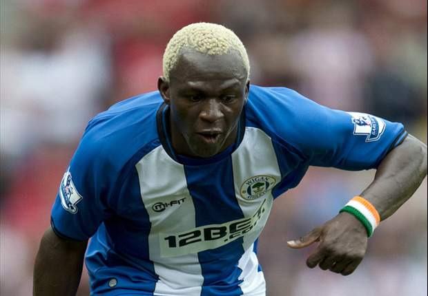 Wigan striker Kone aims for 'one of the best clubs in England'