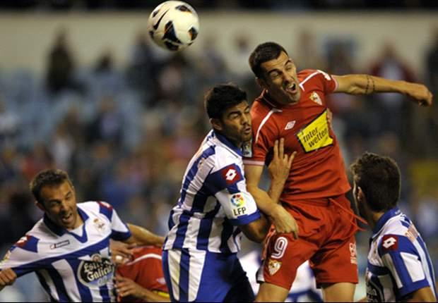 Deportivo 0-2 Sevilla: Negredo y Rakitic sentencian en Riazor