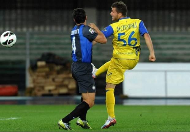Chievo 0-2 Inter: Pereira and Cassano earn away win for Stramaccioni's side