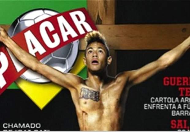 Polémica en Brasil por Neymar crucificado