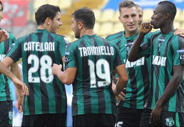 Serie B, 26ª giornata: Il Sassuolo vince in rimonta, frena l'Empoli. Poker di sconfitte per Brescia, Padova, Livorno e Verona