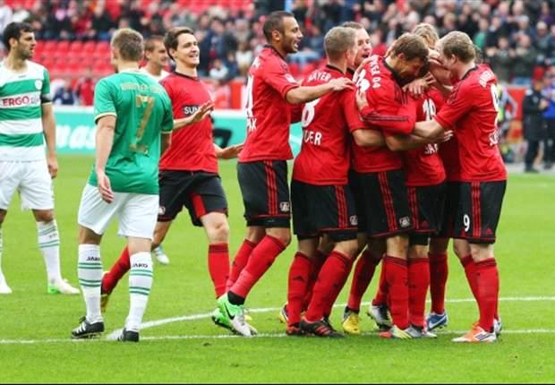 Ungefährliche Fürther verlieren gegen Leverkusen und Sidney Sam