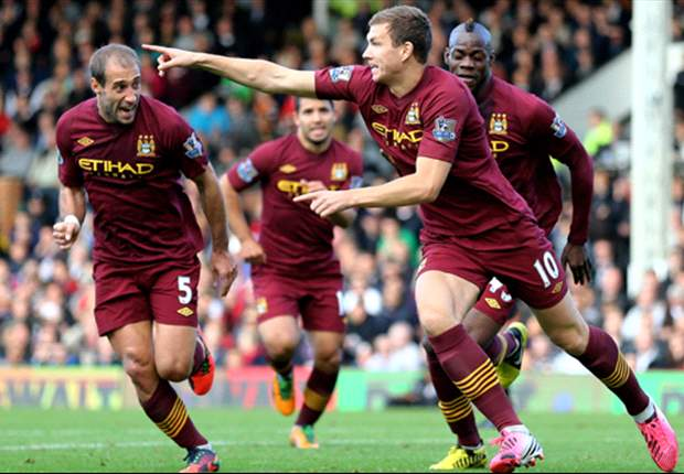 Fulham 1-2 Manchester Ciy: Aguero & Dzeko strike as champions come from behind