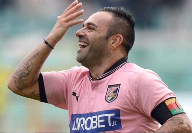 Miccoli re di Palermo: arriva la firma contro il Catania e sono 100 reti in Serie A, raggiunto Prati