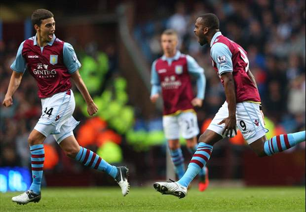 Aston Villa 1-1 West Brom: Bent grabs late equaliser to earn point in Midlands derby