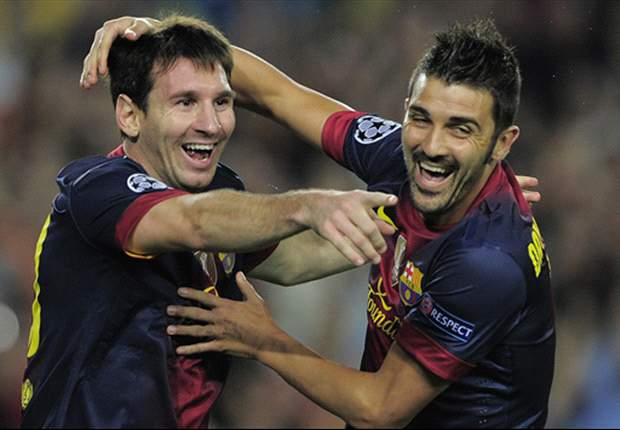 Villa: Messi and I have a good relationship