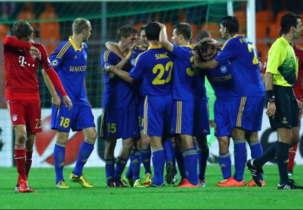 BATE 3-1 Bayern Munich: German giants humbled in Belarus