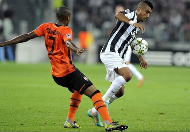 Vidal destacó en empate de la Juve