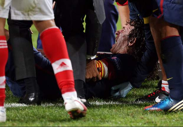 Barcelona confirm Puyol out injured for two months