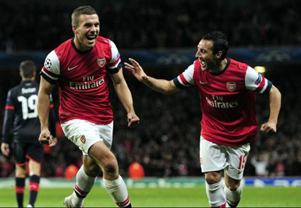 Arsenal 3-1 Olympiakos: Gervinho, Podolski and Ramsey on target as Gunners make it two from two