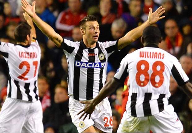 """Dopo l'exploit con il Liverpool, Larini spera che l'Udinese si ripeta contro il Napoli: """"Turnover? Deciderà Guidolin, mi auguro che giochi Di Natale"""""""