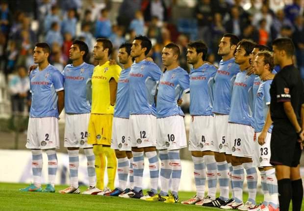 El Celta de Vigo antes de un partido de la Liga BBVA