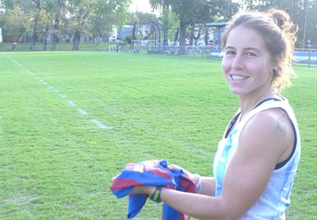 Sofía Maccari, una Leona futbolera, fanática del Barcelona