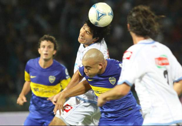 Silva y Ledesma en el partido del Clausura 2012