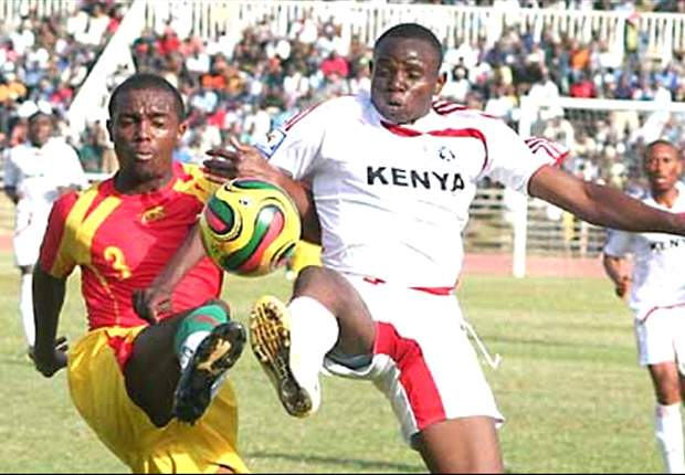 Kenya midfielder Patrick Oboya (r) is scheduled to pen a short term deal with Gor Mahia