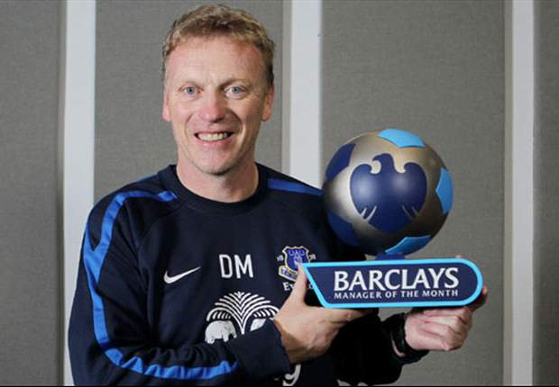 Everton boss Moyes and Sunderland striker Fletcher win monthly awards