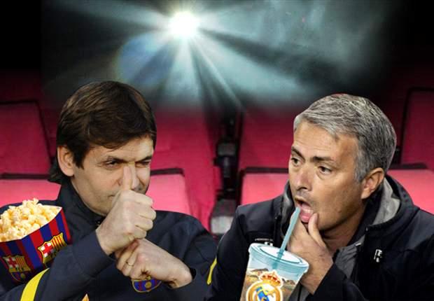 Tito Vilanova y José Mourinho van al cine juntos mientras sus jugadores no están