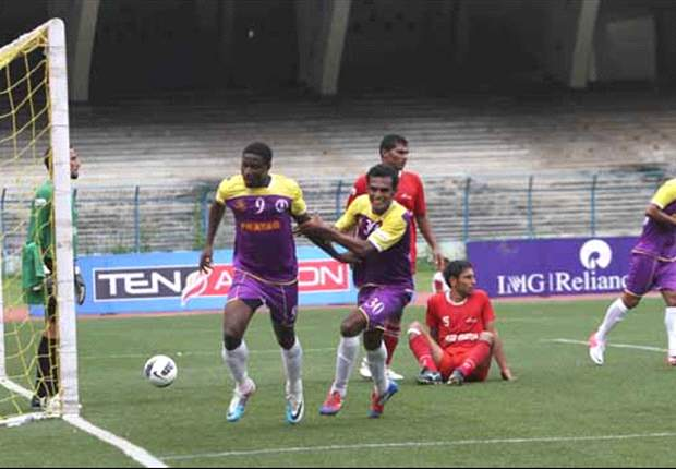 Prayag United's Ranti Martins is the first to score 150 goals in the I-League