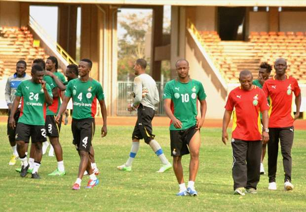 Andre Ayew and Black Stars team-mates