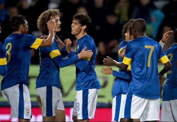 Brazil 6-0 Iraq: Kaka strikes on international return as Selecao romp to victory