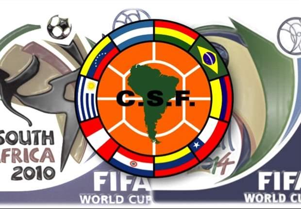Eliminatorias sudamericanas, 2008 vs. 2012 Primera ronda.