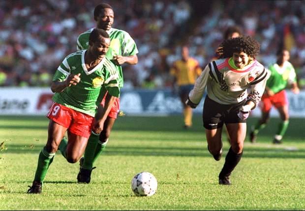 Colombia Vs. Camerún Postales históricas
