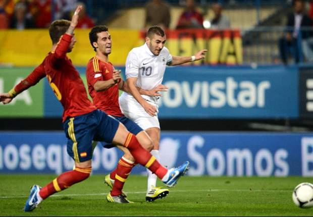 Giroud kopt Frankrijk naast Spanje