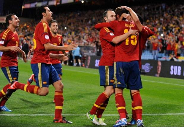 Spain finish Fifa Ranking at the summit for fifth year in succession